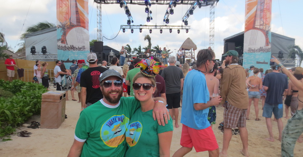 Music festival experts Kelly and Jason