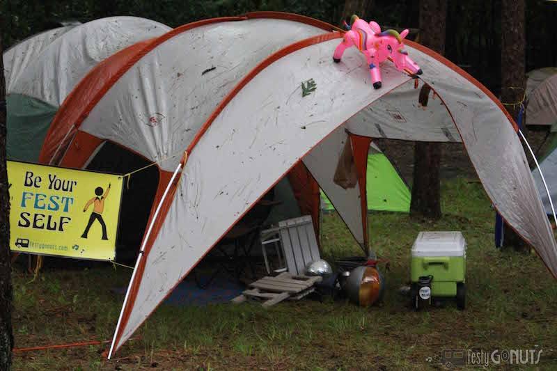 Blue Ox: Festy Campsite after storm