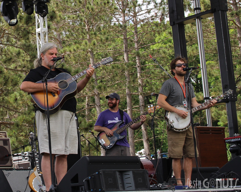 Leftover Salmon soundcheck - Blue Ox Music Festival