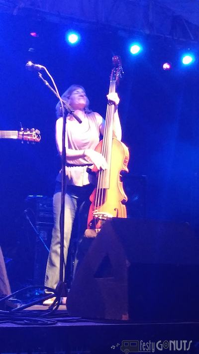 Jenny Keel on the bass fiddle
