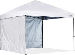 Pop-up canopy tent with sidewalls