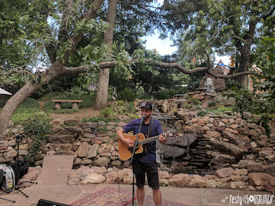 Kevin Watson plays the River Stage at Grapes and Grass in Boulder Colorado.
