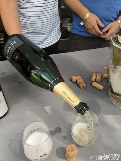 Champagne to start our day at Grapes and Grass Festival in Boulder, Colorado.