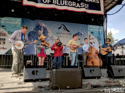 Mr Sun with Danny Barnes and Darol Anger at the Grand Targhee Bluegrass Festival 2017