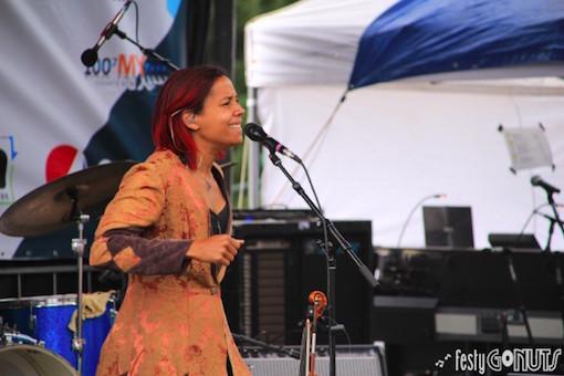 Rhiannon Giddens at the Targhee Bluegrass Festival 2017