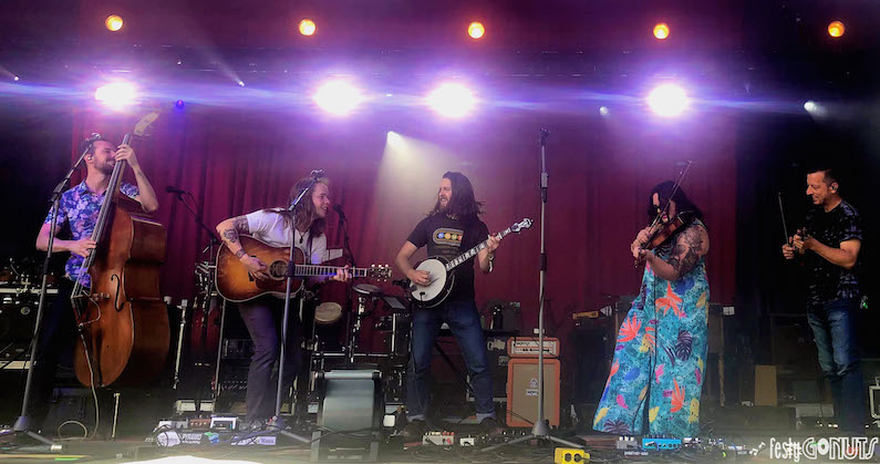 Billy Strings with Allie Kral and Jason Carter at Delfest 2019