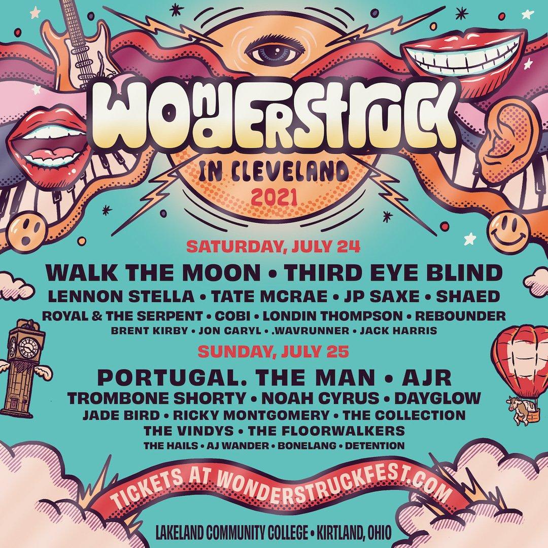 Wonderstruck Music Festival 2021 Lineup Poster