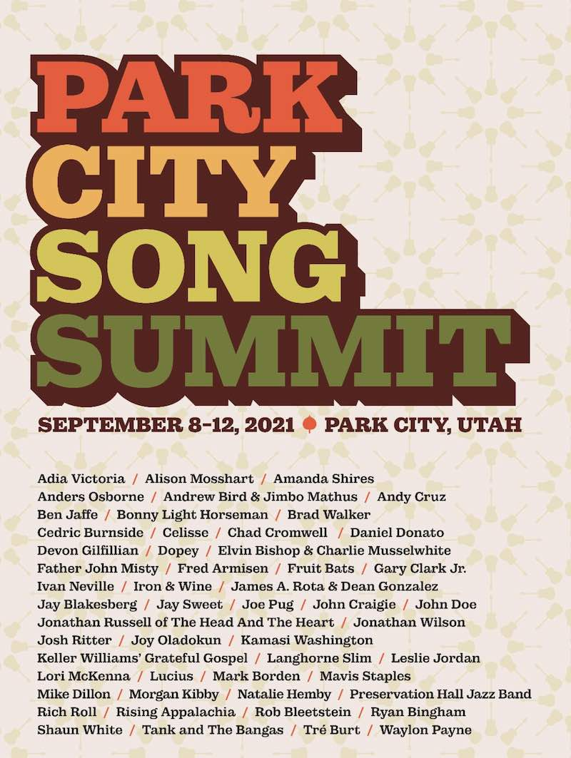 Park City Song Summit lineup poster