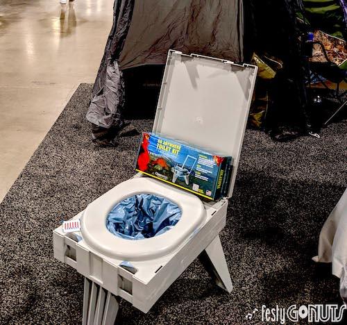 CleanWaste Portable Toilet - Outdoor Retailer Show 2021