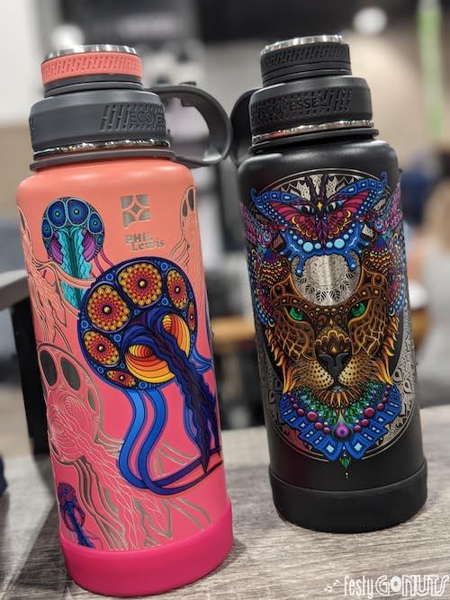 EcoVessel Water Bottles: Phil Lewis Art design