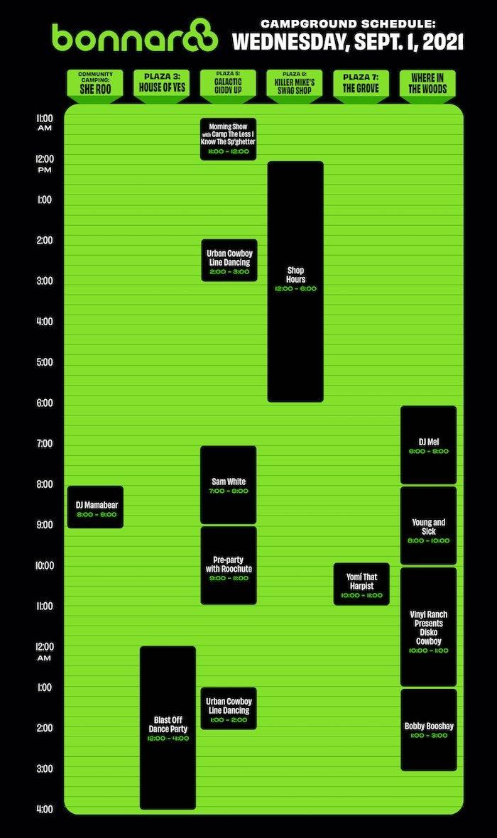 Bonnaroo Daily Schedule: Wednesday